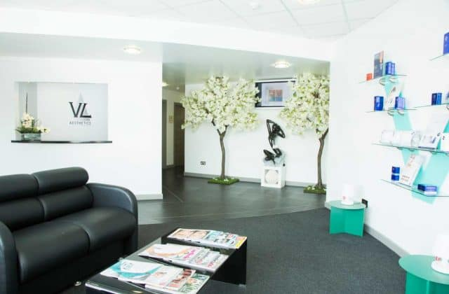 The Reception Area at VL Aesthetics in Carlisle (Cumbria)