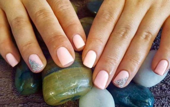 Light Pink Styled CND Shellac Gel Nails at VL Aesthetics in Carlisle (Cumbria)