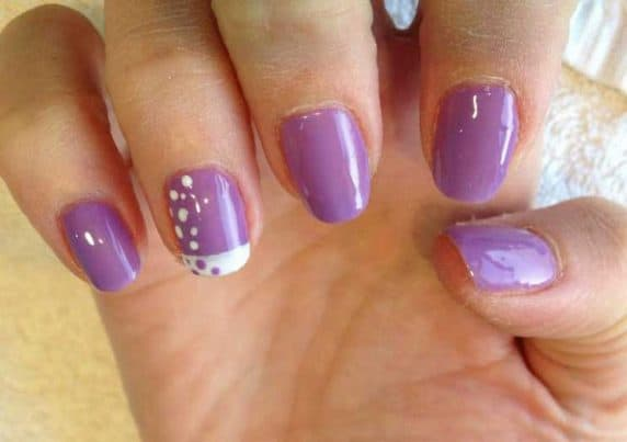 Purple Styled CND Shellac Gel Nails at VL Aesthetics in Carlisle (Cumbria)