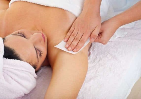 A Woman Having Her Under Arms Waxed at VL Aesthetics in Carlisle (Cumbria)