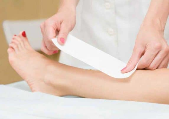 A Woman Having Her Legs Waxed at VL Aesthetics in Carlisle (Cumbria)