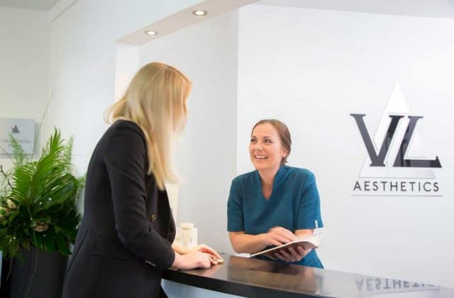 Reception at VL Aesthetics in Carlisle (Cumbria)