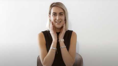 A woman talking about how VL Aesthetics are experts in anti-ageing and skincare treatments